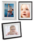 Use these metal print displays to showcase favorite photos or retail signage.