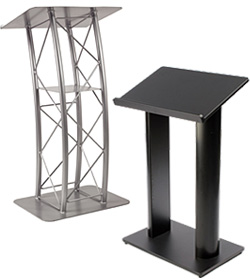 Steel and Aluminum Podiums