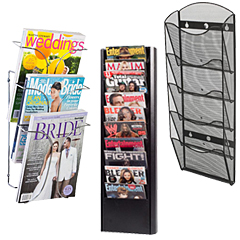 Metal Wall Mounted Magazine Racks
