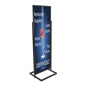 "Black 22"" x 69"" Poster Stand with Minimal Assembly"
