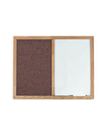 Library Bulletin Board - Oak Frame
