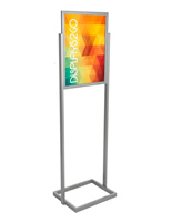 "Silver 18"" x 24"" Poster Display Stand Made of Aluminum"
