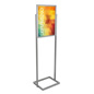 "Silver 18"" x 24"" Poster Display Stand with Double Pedestal Base"