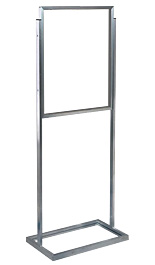 Silver 22x28 Top Loading Poster Stand