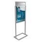 "Floor Standing Silver 24"" x 36"" Metal Poster Stand"