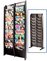 Cascading Holder for Magazines