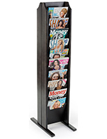 Black Double Sided Magazine Stand