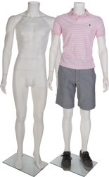 White Headless Male Mannequin for Retail Locations