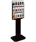 Black Wood Brochure Stand, Durable Construction