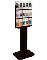 "Black Wood Brochure Stand for 4"" x 9"" Literature"