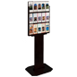 Black Wood Brochure Stand for Lobbies