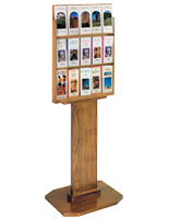 Contemporary Wood Brochure Display Stand