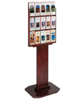 "Mahogany Brochure Kiosk for 4"" x 9"" Literature"