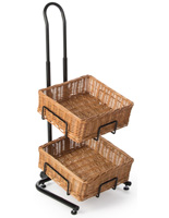 2 Tier Square Basket Stand with Levelers