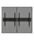 2-Monitor Wall Portrait TV Bracket Menu Boards