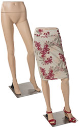 Female Mannequin Leg Form with Lightweight Build