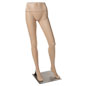 Female Mannequin Leg Form with Durable Metal Base