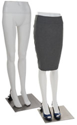 White Lower Body Mannequin with Durable Plastic Build