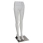 White Lower Body Mannequin with Durable Metal Base