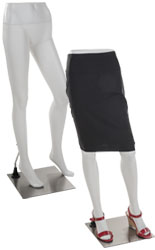 White Mannequin Leg Form with Durable Metal Base