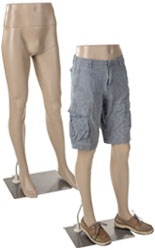 Durable Plastic Male Mannequin Leg Form