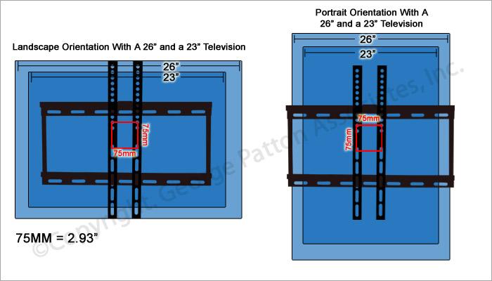flat wall mounts fits tv s 26 to 50 w slim profile black