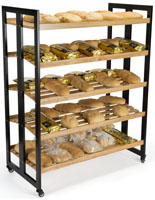 Natural Rolling Wood Shelves
