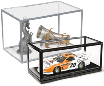 Use these model displays to showcase expensive, or priceless items that need to be secured.