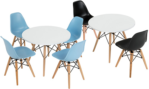 Children's Size Modern Table and Chair Sets