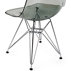 modern designer Eames-style chair with scoop shell seat