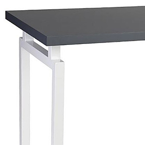 Closeup of a modern office table with geometric design