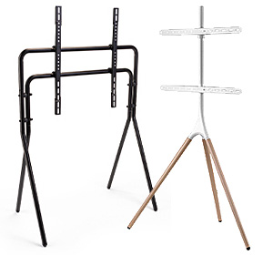 Modern TV stands in steel and wood designs