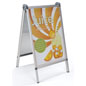 Silver Aluminum Outdoor Snap Poster A-Frame with Quick-Open Edges