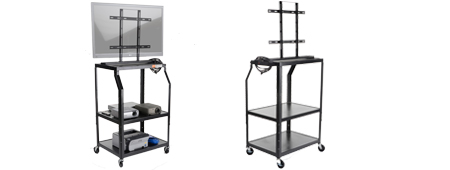 TV Cart with Mount for Monitors 40