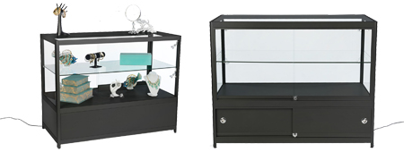 48 inch Retail Display Case w/Cabinet