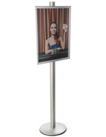 22x28 Snap Open Display Stand on 6'h Pole