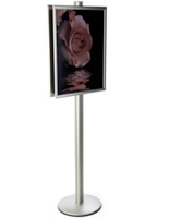 22x28 Sign Display Stand on 6'h Pole