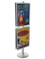 22x28 Snap Frame Poster Stand on 6'h Pole