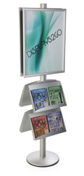 22x28 4 Pocket Poster Stand, Weighted Base