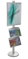 22x28 Double Pocket Literature Sign Stand for Malls