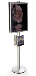 22x28 Dual Frame Stand with Acrylic Pockets for Lobbies