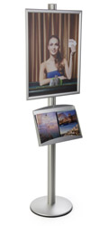 "22x28 Poster Display Stand with Literature Holder for 8.5"" x 11"" Literature"