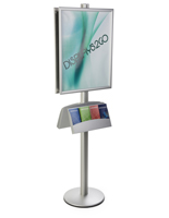 22x28 Double Poster Holder with Literature Stand for Education Buildings