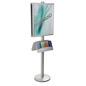 22x28 Double Poster Holder with Literature Stand for Malls