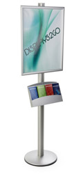 22x28 Dual Frame Stand with Pamphlet Pockets & Clear Lens