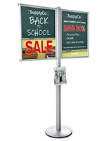 Advertising Multi Poster Floor Frame Literature Stand