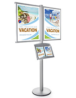 Promotional Poster Snap Frame Floor Post Literature Stand