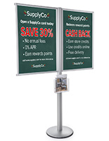 Multi Poster Floor Stand Literature Display for Advertisements