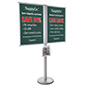 Indoor Multi Poster Floor Stand Literature Display