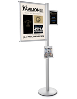 6' Tall Multi Literature Poster Sign Display Stand